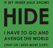 Hulk by artsandherbs