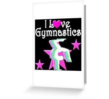 PRETTY PINK STAR GYMNAST Greeting Card