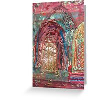 Pink Churches Greeting Card
