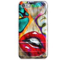 Construction site covered in art.  iPhone Case/Skin