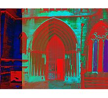 Red and Blue Church Photographic Print