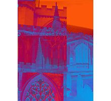 pink, blue and orange church Photographic Print