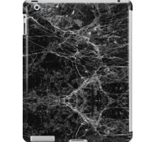 Black and White Modern Faux Marble Pattern iPad Case/Skin