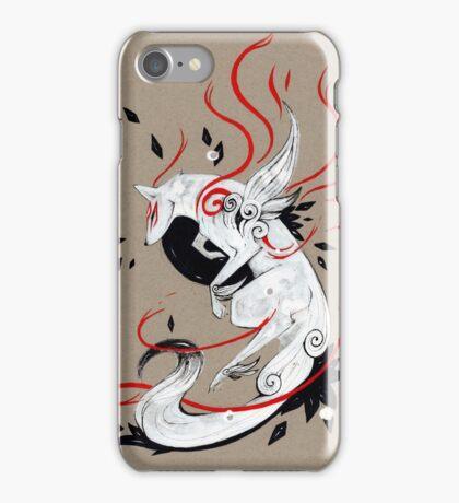 Okami Amaterasu RIBBONS iPhone Case/Skin
