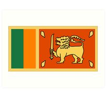 Sri Lanka, national id Art Print