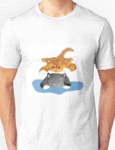 Nap Interrupted by Tiger Kitten Unisex T-Shirt