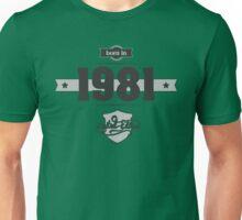Born in 1981 Unisex T-Shirt