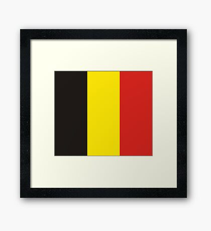 Belgium, national id Framed Print