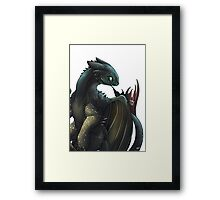 Toothless #2 Framed Print