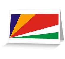 Seychelles, national id Greeting Card