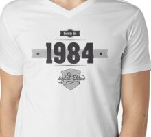 Born in 1984 Mens V-Neck T-Shirt
