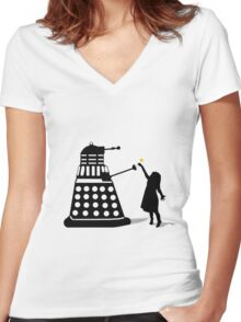 Dalek Stasis Theory Women's Fitted V-Neck T-Shirt