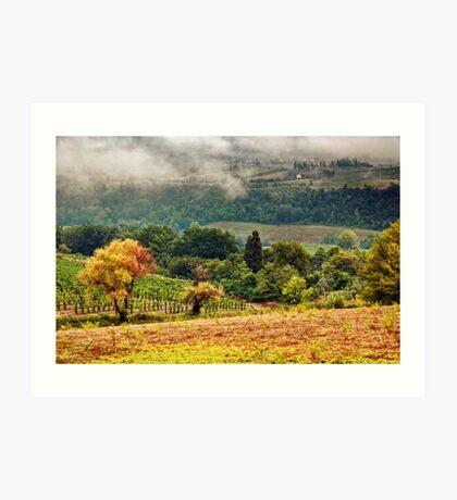 Autumnal hills Art Print