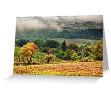 Autumnal hills Greeting Card