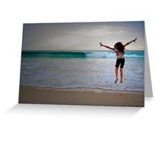 Leaping Indian Ocean Greeting Card