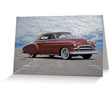 1950 Chevrolet Custom Convertible Greeting Card