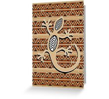 Gecko Africa Art Design Greeting Card