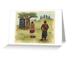 The 2 Jamies- Outlander/DrWho Greeting Card