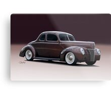 1940 Ford 'Fifties Style' Coupe Metal Print