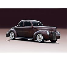 1940 Ford 'Fifties Style' Coupe Photographic Print