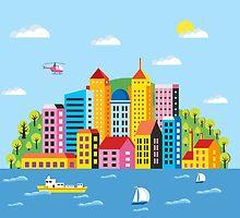 City illustration by Alexzel