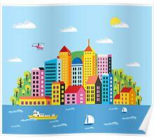 City illustration Poster