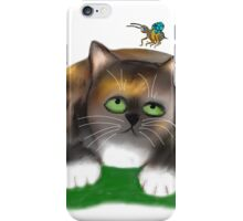 Calico Kitten watches Three Bees iPhone Case/Skin