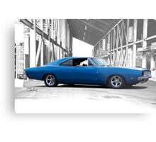 1969 Dodge Charger RT 'American Muscle' Metal Print