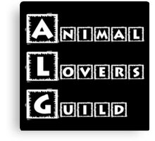 animal lovers guild Canvas Print