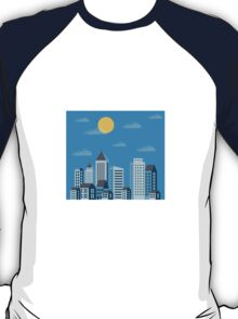 City  in a flat style  T-Shirt