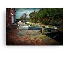 Blockhouse Lock, Worcester UK Canvas Print