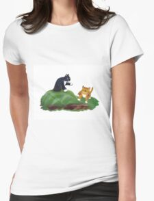 Kittens Playing King-of-the-Hill Womens Fitted T-Shirt