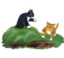 Kittens Playing King-of-the-Hill by NineLivesStudio