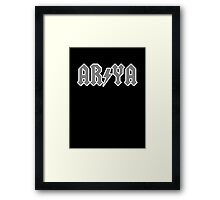 Highway to Harrenhal (Game of Thrones / Arya Shirt) Framed Print