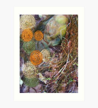 embroidered pebbles I Art Print