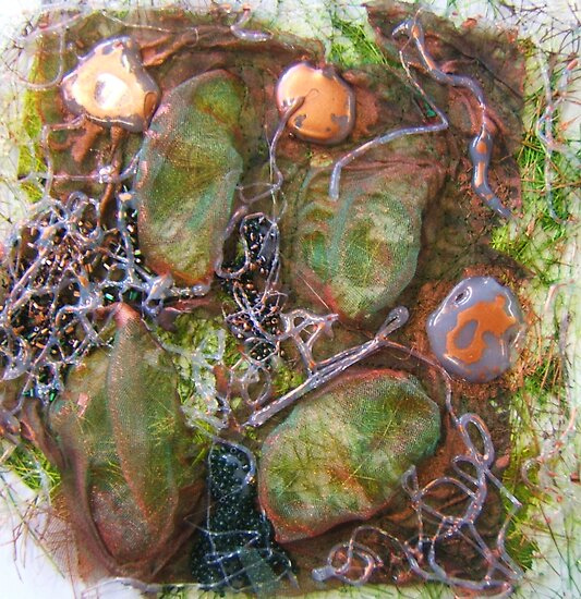 embroidered pebbles II by Michelle Brogan