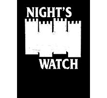 Castle Black ( Night's Watch / Game of Thrones shirt) White Logo Photographic Print