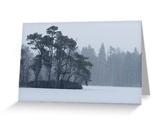 Cold Scape Greeting Card