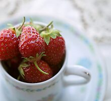 Strawberries From Above by Rachel Slepekis