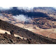 El Teide: Lava Flows Photographic Print