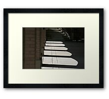 The Arches Of Shadows Framed Print