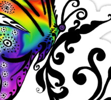 Butterfly Swirl Sticker