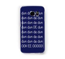 Doctor who Theme (White text) Samsung Galaxy Case/Skin