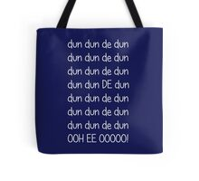 Doctor who Theme (White text) Tote Bag