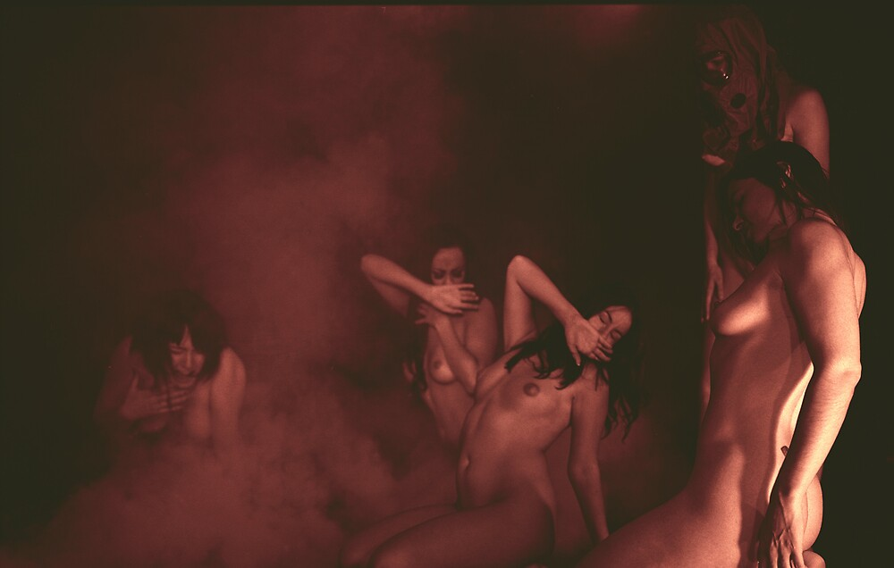Group Nudes- Gas Mask 1 by Kevin  Picolet