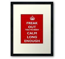 Freak Out Framed Print