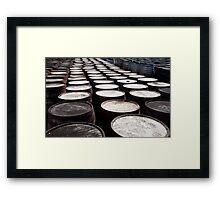 Whisky barrels Framed Print