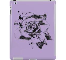 Black Ink Rose  iPad Case/Skin