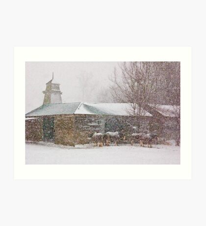 Country Snowstorm Art Print