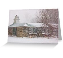 Country Snowstorm Greeting Card